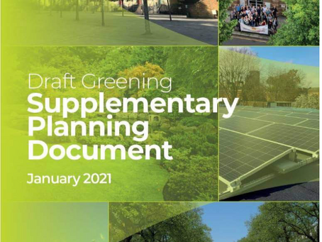 Consultation deadline for Draft Greening SPD: have your say by 23rd February 2021!