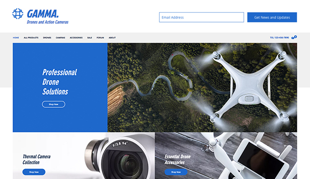 Elektronika website templates – Sklep z dronami