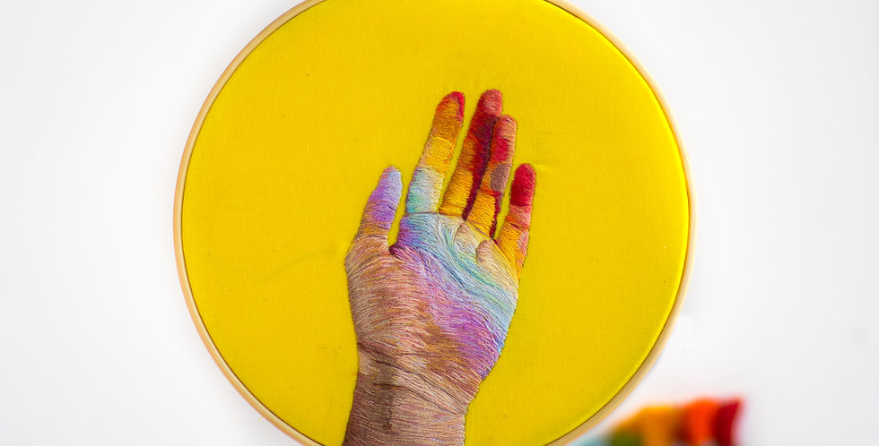 Rainbow Hand Embroidery