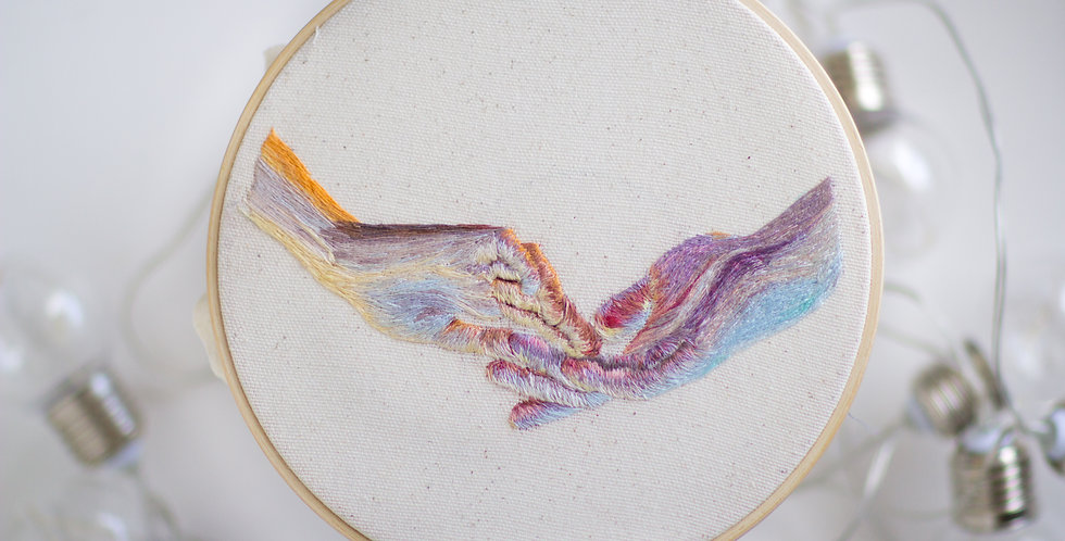 Hands Hand Embroidery Hoop