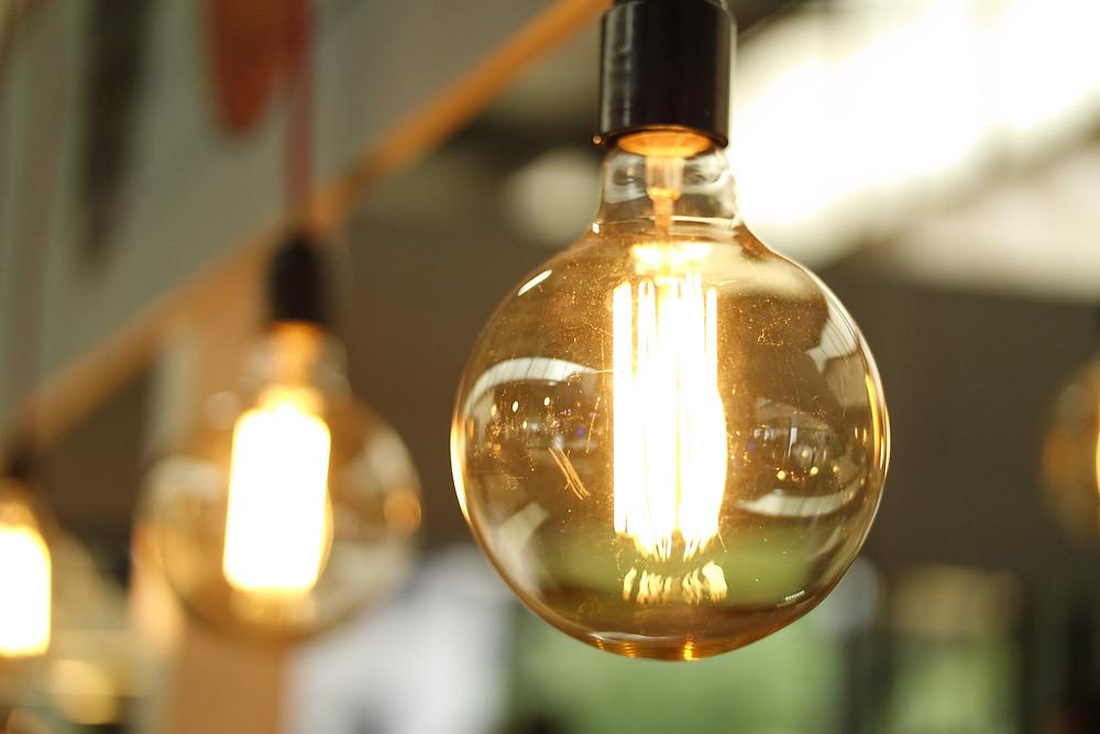 Close up of Lightbulbs