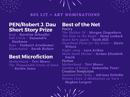 2019 Nominations for PEN/Dau, Best of the Net, and Best Microfiction!