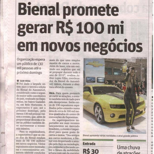 Jornal  Matéria GM Bienal