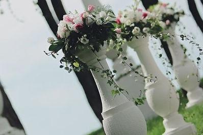 Оформление свадьбы из пенопласта