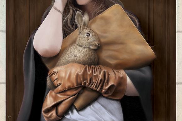 'Wearing Fur'A1 Print