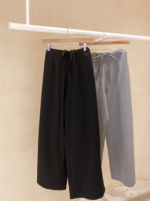 Drawstring Suit Pants