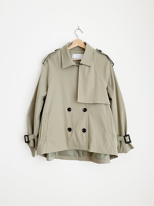 Short Double Breasted Trench Coat