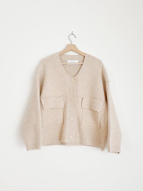 Knit Button Down Jacket