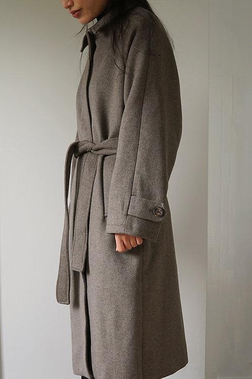 Wool Blend Button Down Coat
