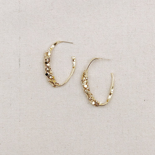 Diamante Twisted Hoop Earrings
