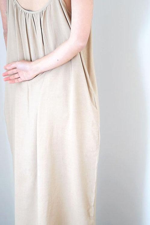 Spag Strap Midi Slip Dress