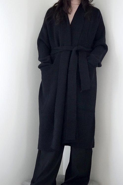 Oversized Alpaca Blend Longline Knit Cardigan