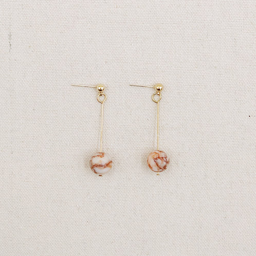 Marble Ball Drop Earrings