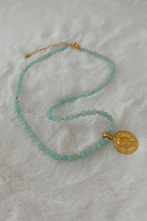 Coin Stones Necklace