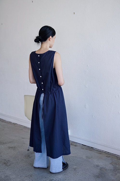 Buttons Tie-back Long Top