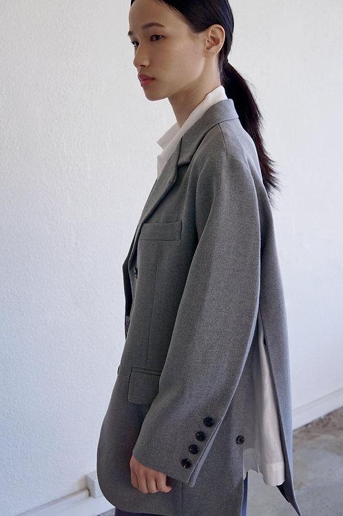 Side-slit Oversized Blazer