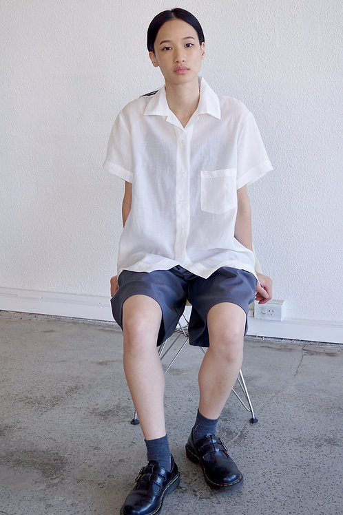 Short Sleeves Sheer Shirt