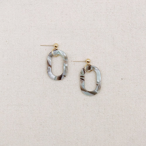 Acrylic Hollow Oval Earrings