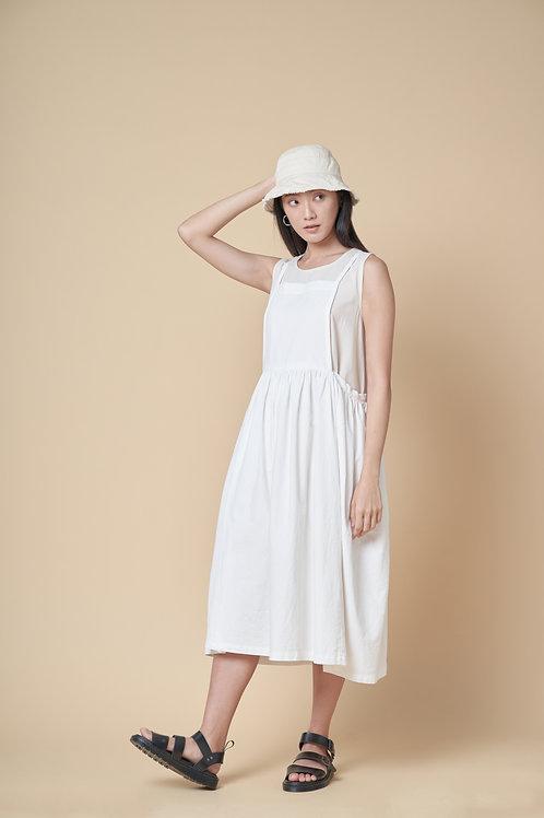 Tie-back Apron Pinafore Dress