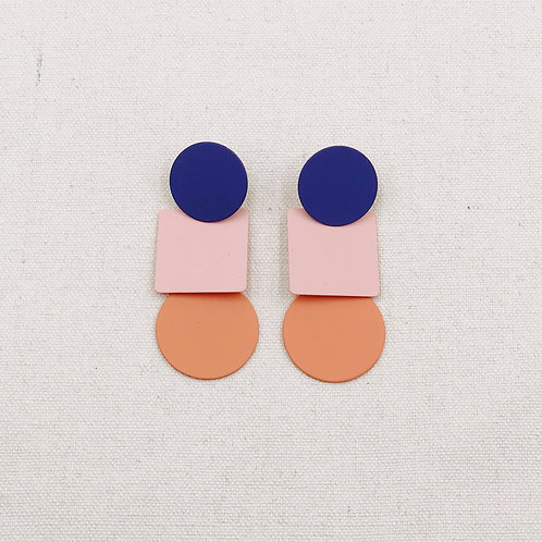 Colour Block Geometric Earrings