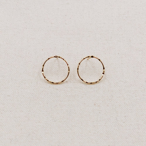 Thin Rim Stud Earrings
