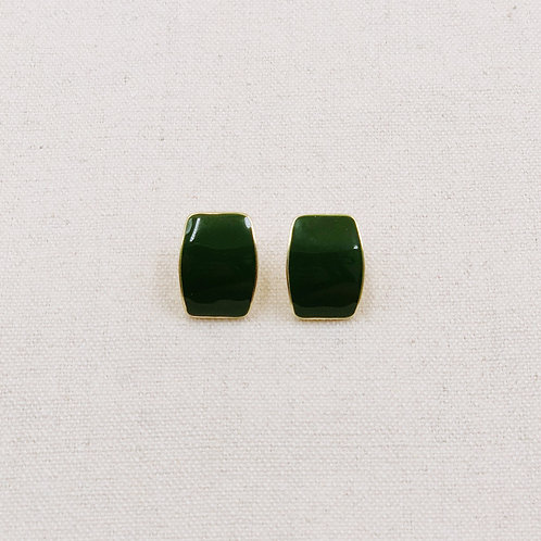 Lacquer Rectangular Stud Earrings