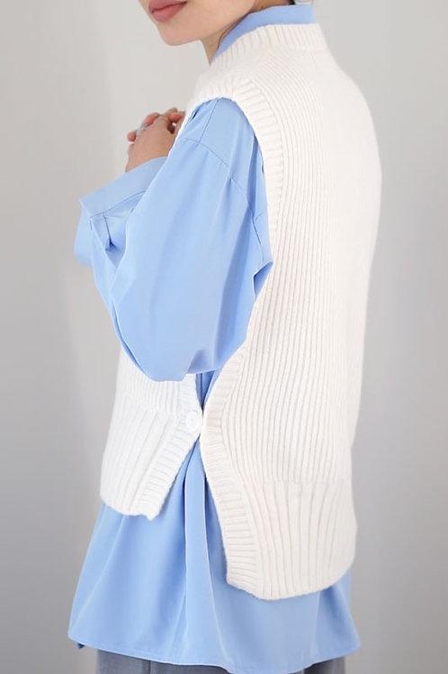 Side Button Knit Vest
