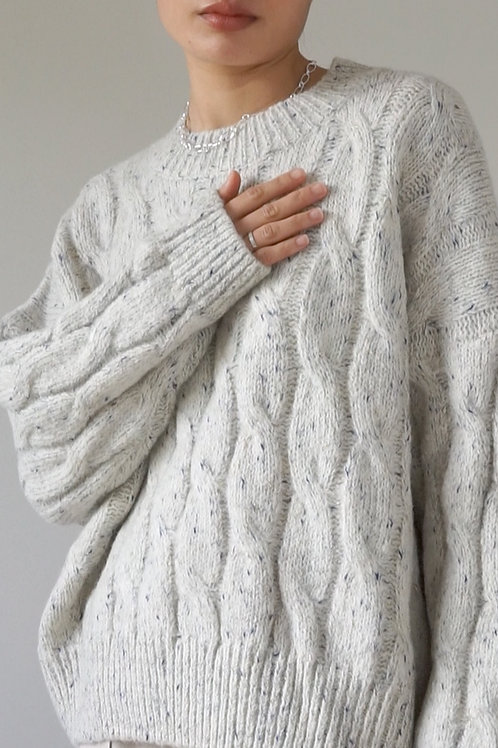 Cable Knit Boxy Sweater