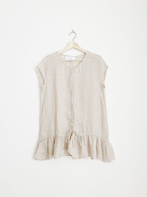 Linen Gathered Front Top