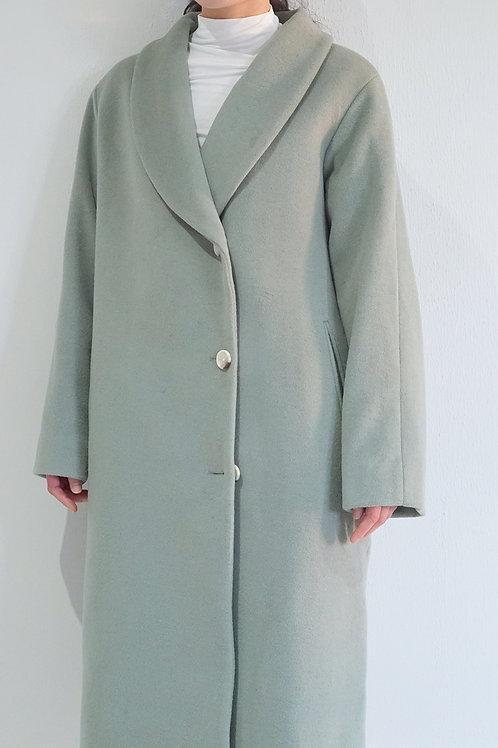 Overlap Cocoon Coat