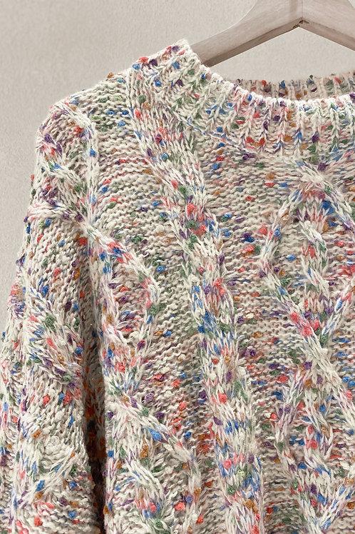Multi-colour Mixed Yarn Sweater