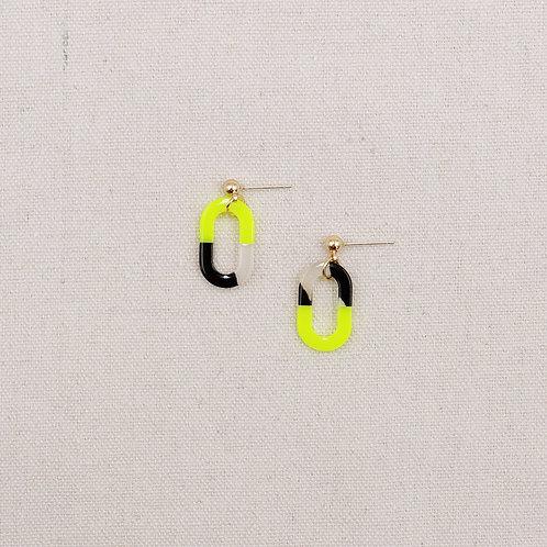 Acrylic Hollow Oval Earrings