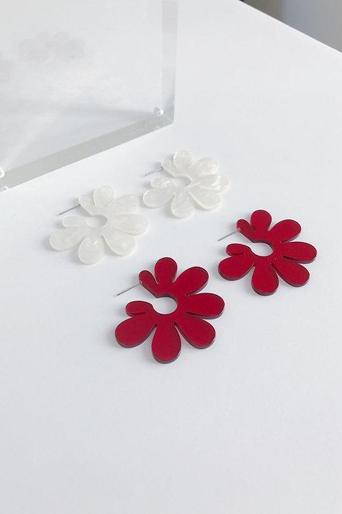 Open Acrylic Floral Earrings