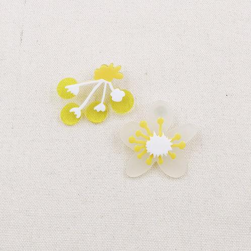 Egg Yolk Flower Earrings