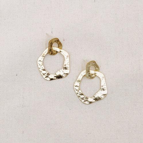 Matte Textured Interloop Earrings