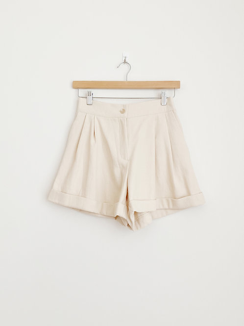 High-Waisted Wide Leg Shorts