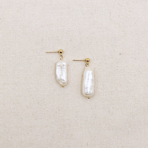 Irregular Long Pearl Earrings