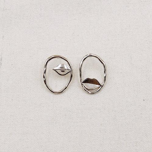 Eye Lip Earrings