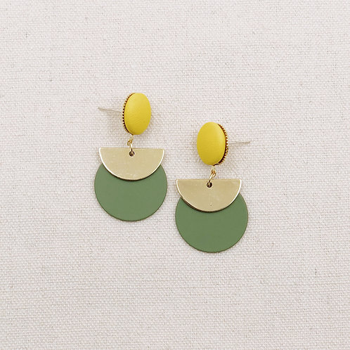 Circle Half Moon Earrings