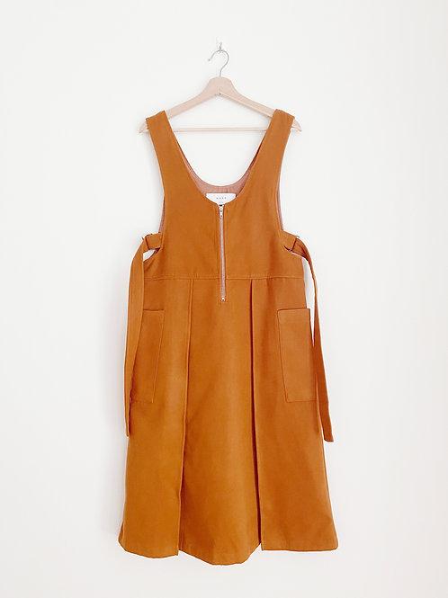 V Neck Pinafore Dress