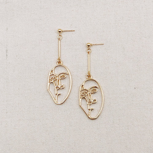 Flat Face Drop Earrings