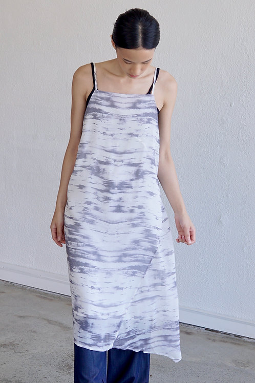 Tie-dye Backless Long Top