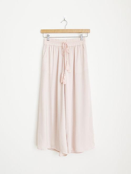 Elastic Flowy Culottes with Drawstring