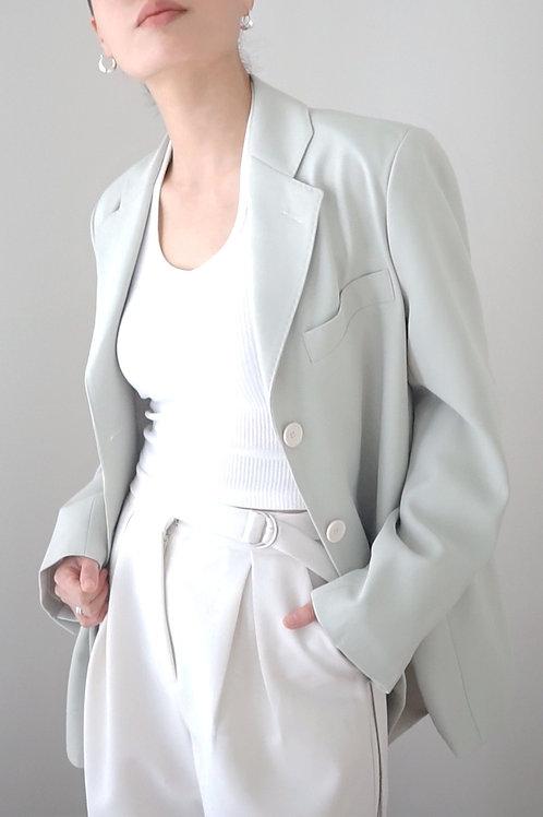 Oversized Button Up Blazer with Stitch Detail