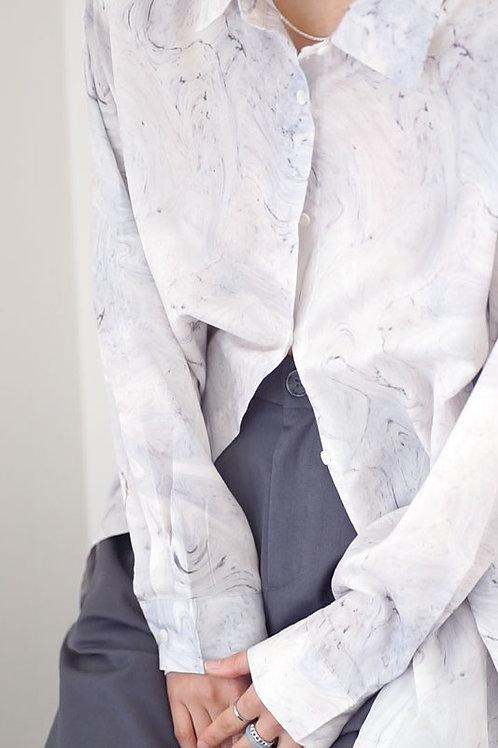 Pastel Marble Print Shirt