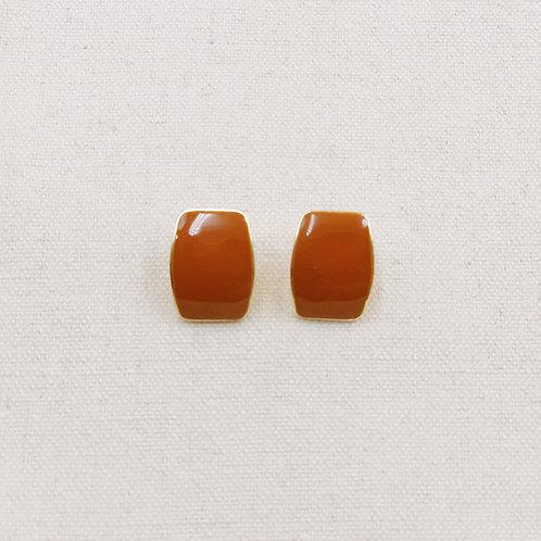 Lacquer Rectangular Stud Earrings