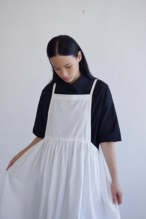 Tie-back Apron Pinafore Dress