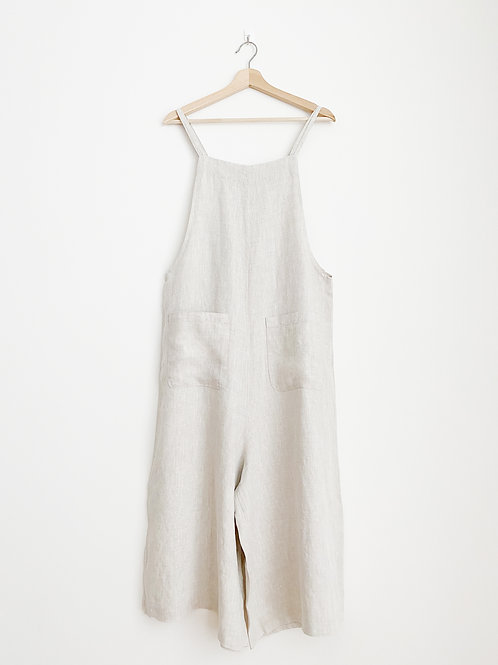Linen Double Strap Overall