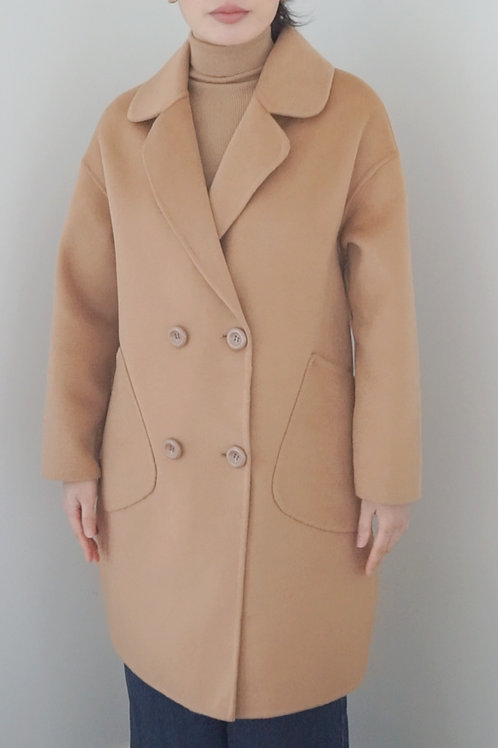 Double Breasted Wool Long Coat