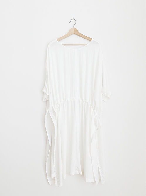 Oversized Gathered Front Midi Top